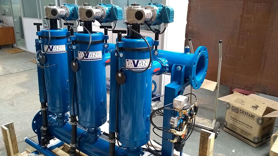 Sistema de filtragem para irrigação localizada