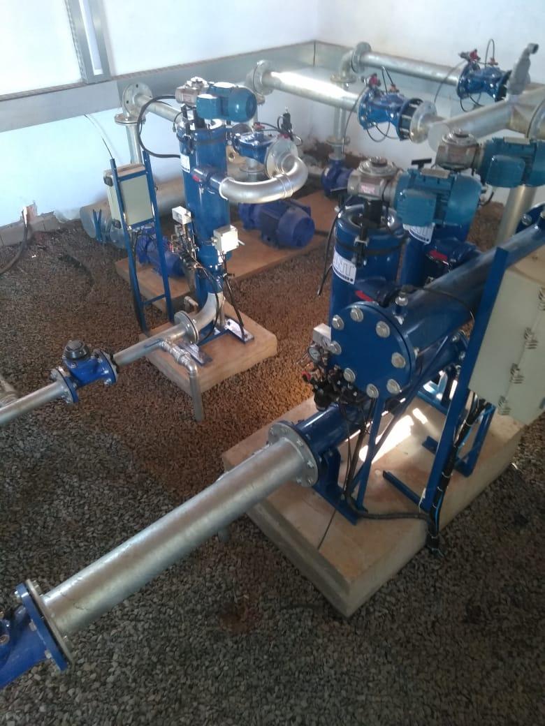 Sistema de filtragem em gotejamento