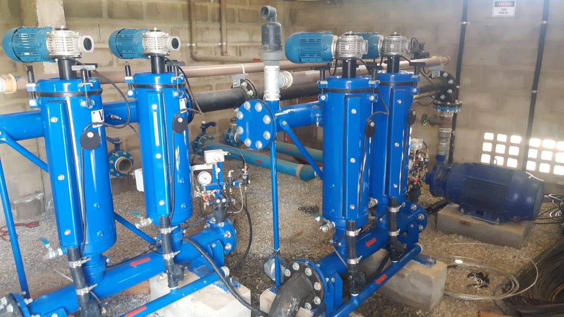 Filtragem compacta para irrigação por gotejamento