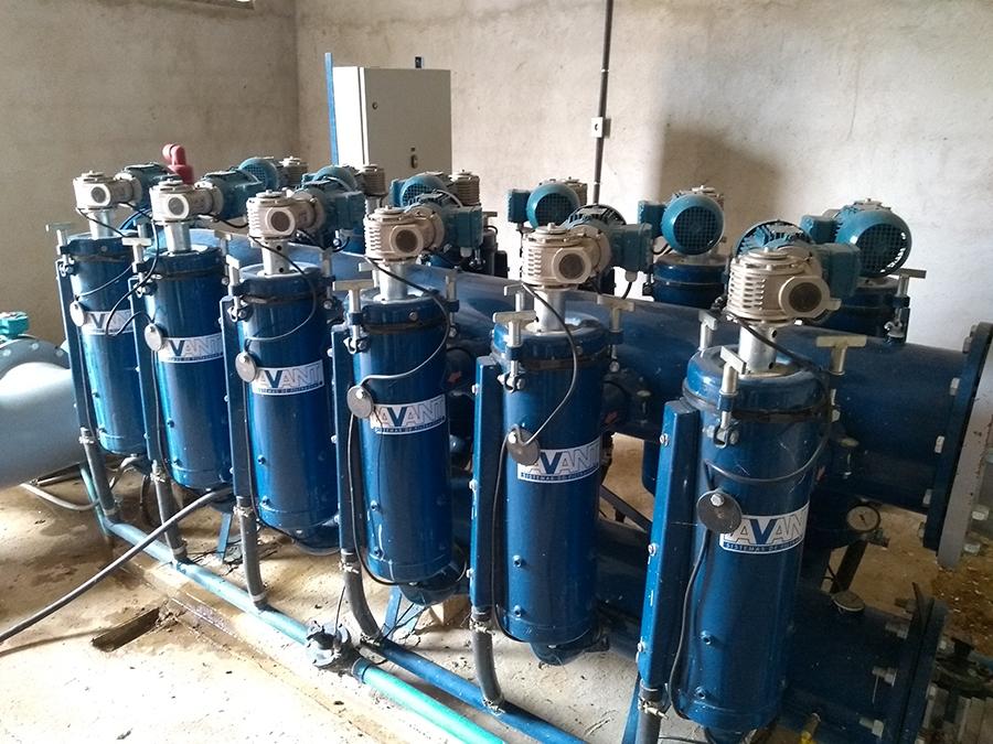 Sistema de filtragem em projeto de irrigação para fruticultura