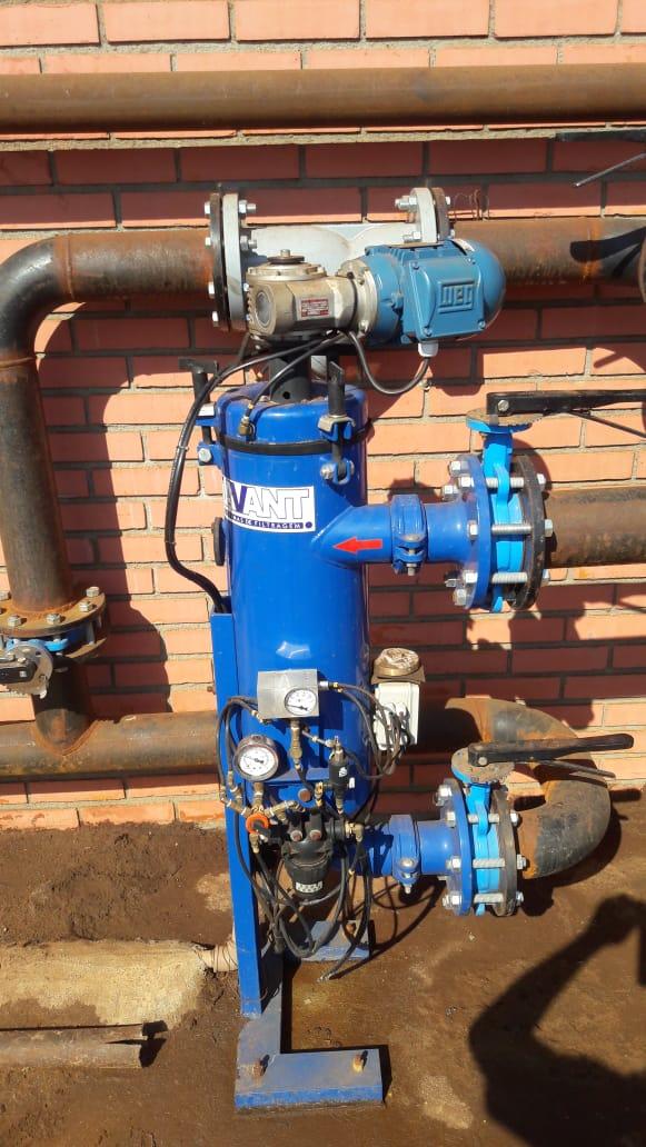 Filtro automático auto limpante FA 20 aplicado em CCM de sistema de refrigeração