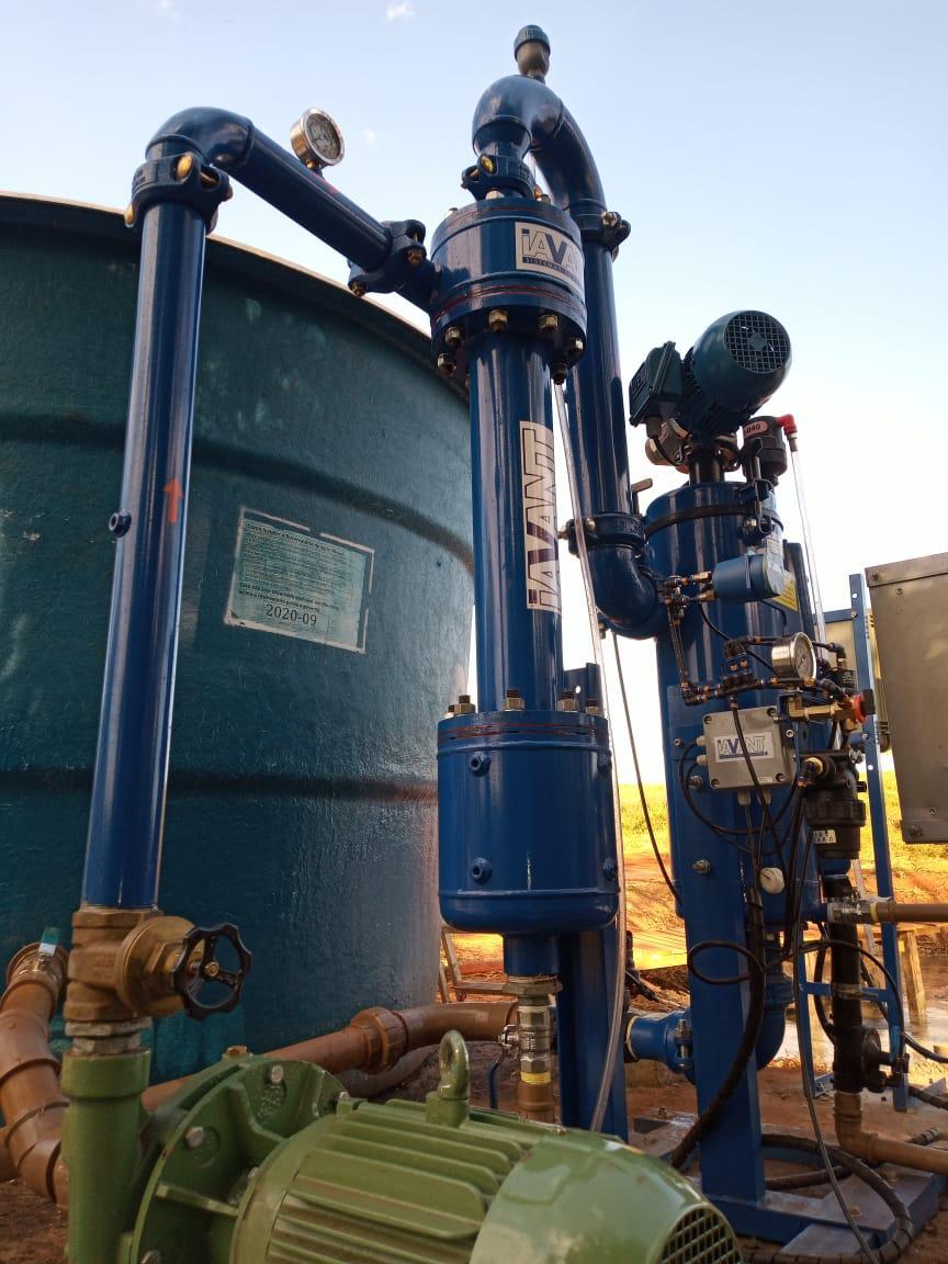 Sistema completo de filtragem para aproveitamento de agua de lagoa