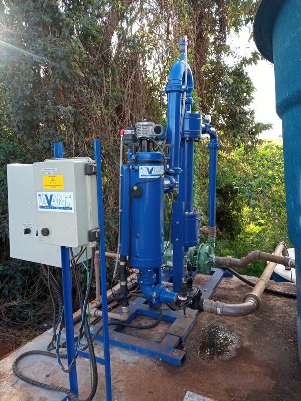 Skid para tratamento de agua residual de confinamento